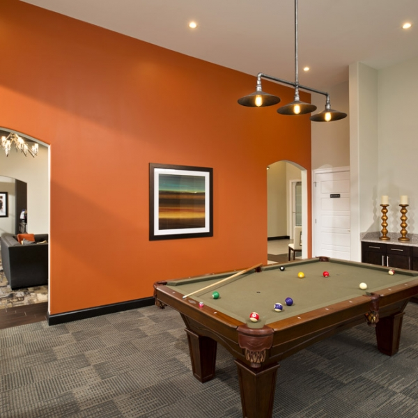 Luxury Apartment Living Amenities At The Kensington Clifton Park NY - Kensington pool table